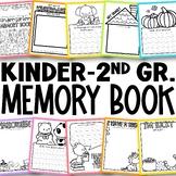 Kindergarten Memory Book   First Grade Memory Book   Preschool Memory Book