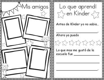 Kindergarten Memory Book / Mis memorias de Kínder - Spanish Version
