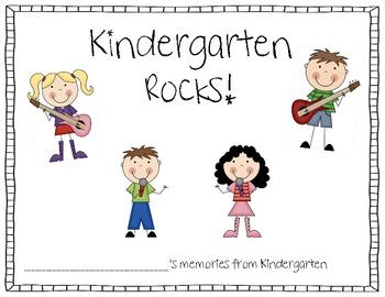 Kindergarten Memory Book Rock Star Style