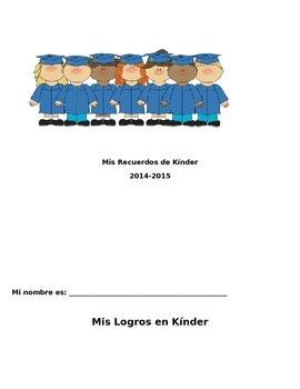 Kindergarten Memory Book (Spanish) Editable