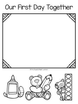 Kindergarten Memory Book - Weekly Pages