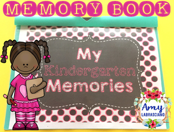 Memory Book for Kindergarten End of the Year