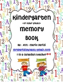 Kindergarten Memory Book (modified for other grades)