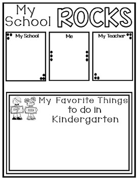 Pre-K, Kindergarten, First, and Second Grade Memory Booklet -Editable