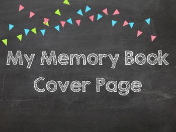 Kindergarten Memory Cover Page