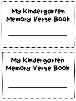 Kindergarten Memory Verse Book