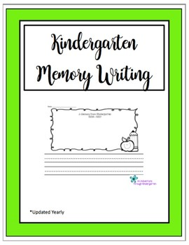 Kindergarten Memory Writing