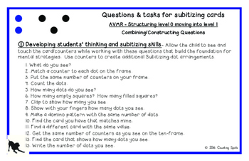 Kindergarten Mental Math - Fluency to Five Cards and Questions