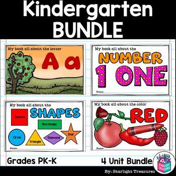 Kindergarten Mini Book MEGA Bundle: Alphabet, Colors, Shapes, and Numbers!