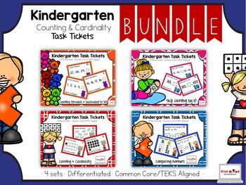 Kindergarten Mini Bundle: Counting & Cardinality: Task Tic