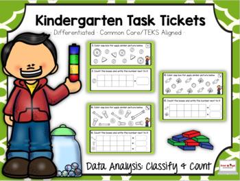 Kindergarten Mini Bundle: Measurement: Task Tickets (Differentiated)