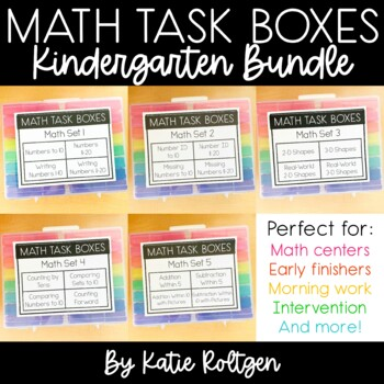 Kindergarten Mini Math Centers Bundle