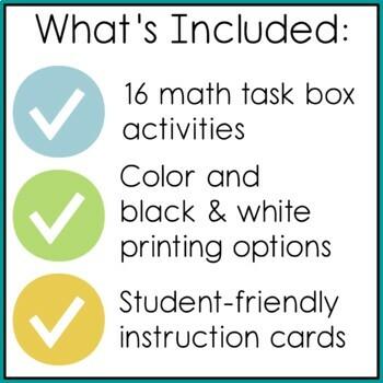 Kindergarten Mini Math Activities {On My Own} Set 2