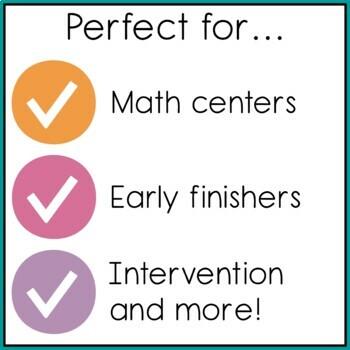 Kindergarten Mini Math Activities {On My Own} Set 3