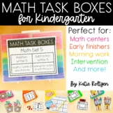 Math Task Boxes for Kindergarten Set 5