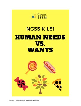 Kindergarten Mini NGSS Unit: Human vs. Animal Needs and Wants