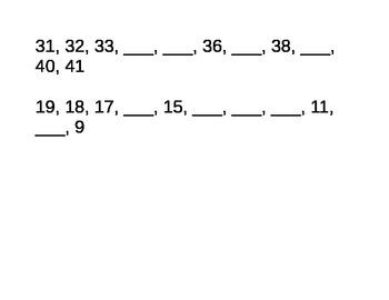 Kindergarten Missing Number