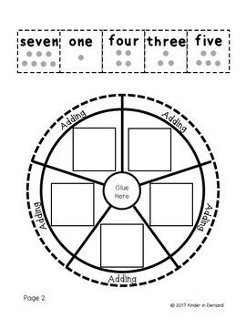 Kindergarten Missing Number Wheel Foldable