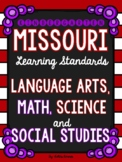 Kindergarten Missouri Learning Standards