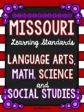 Kindergarten Missouri Learning Standards