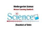 Kindergarten Science Missouri Learning Standards Checklist