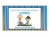 1st Grade SCIENCE Missouri Learning Standards Checklist of Skills