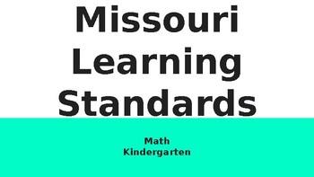 Kindergarten Missouri Learning Standards-Math