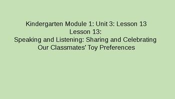 Kindergarten Module 1 Unit 3 Lesson 13
