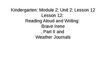 Kindergarten Module 2 Unit 2 Lesson 12