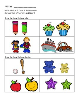 Kindergarten Module 3 Math Assessments Engage NY / Eureka Math