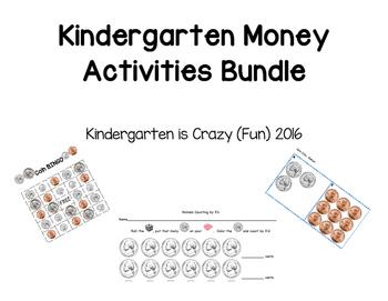 Kindergarten Money Activities Bundle