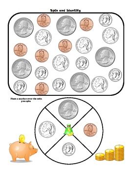 Kindergarten Money Games by Learning to the Moon and Back   TpT
