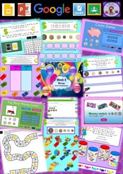 Kindergarten Money Smart Notebook and Unit of Work Bundle 3