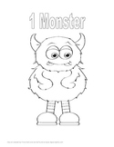 Kindergarten Monster Math