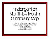 Kindergarten Month by Month Curriculum Map