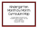 Kindergarten Month by Month Curriculum Map