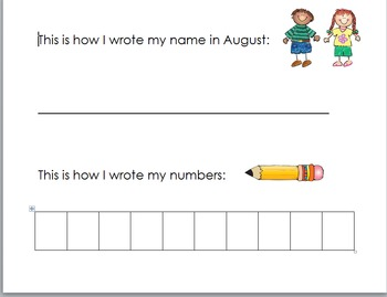 Kindergarten Monthly Assessments