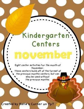 Kindergarten Centers - November