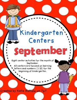 Kindergarten Centers For September Teaching Resources Teachers Pay