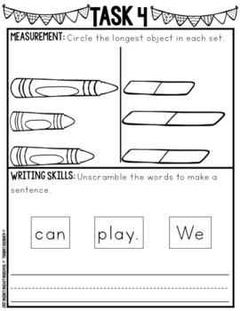 Kindergarten Monthly Homework or Morning Work - November