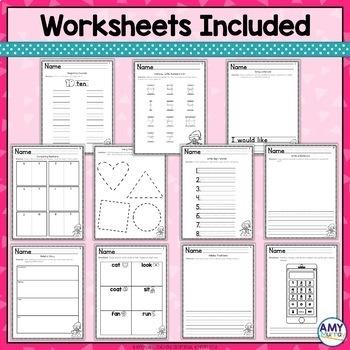 Kindergarten Monthly Homework December