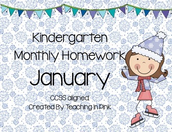 Kindergarten Monthly Homework January