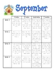 Kindergarten Monthly Homework Packets