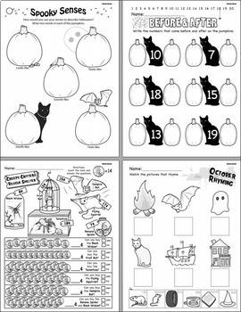 Kindergarten Monthly Learning Pack - October