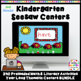 Kindergarten Monthly Math And Literacy Preloaded Seesaw Ce