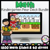 Kindergarten Monthly Math Pear Deck Activities Year Long Bundle