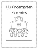 Kindergarten Monthly Memory Book