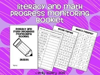 Monthly Progress Monitoring Booklet