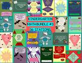 Kindergarten Monthly Themed Math Station Bundle Pack #3 CC Aligned B2S