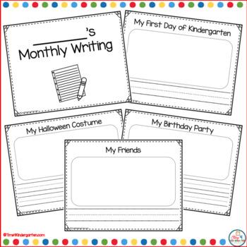 Kindergarten Monthly Writing